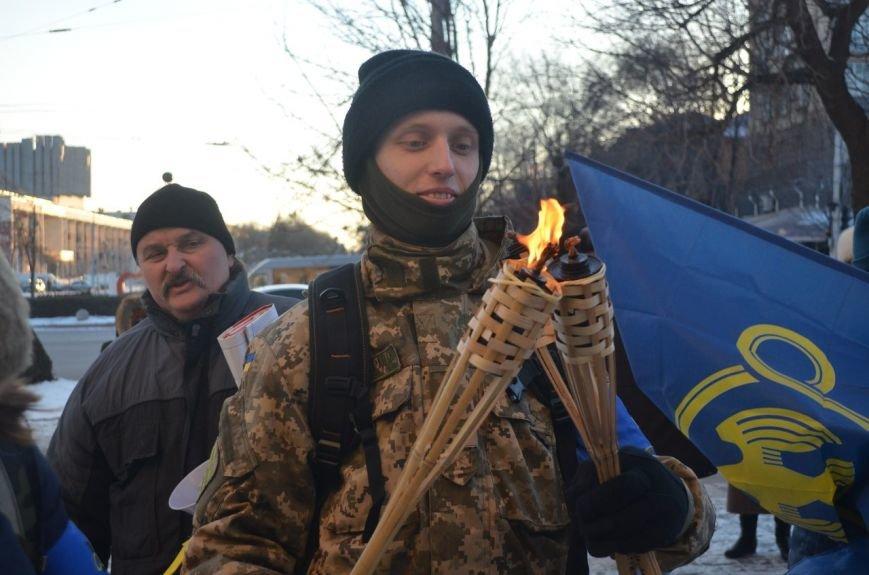 Запорожцы почтили память героев Крут факельным шествием, - ФОТОРЕПОРТАЖ, фото-2