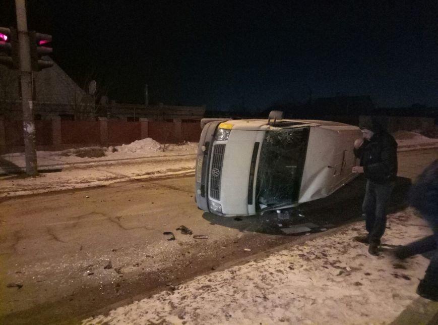 В Запорожье перевернулась маршрутка, - ФОТО, фото-1