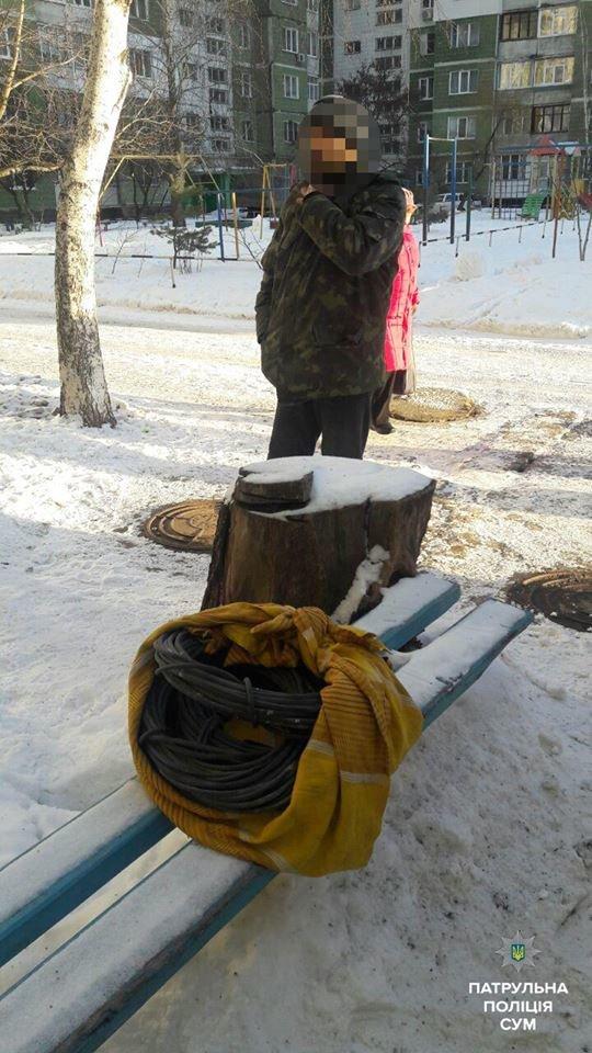 Сумчанин похитил около 100 метров кабеля в одном из домов на ул. Героев Крут  (ФОТО), фото-2