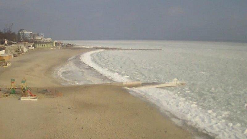 В Одессе замерзло море (ВИДЕО, ФОТО), фото-2