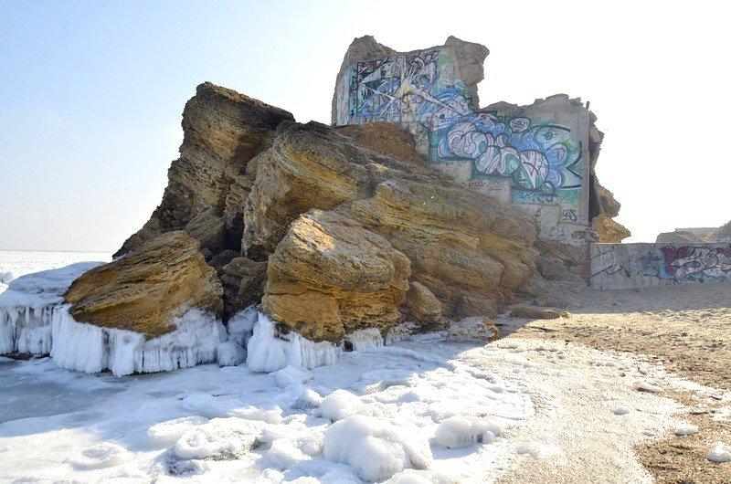 В Одессе вдоль Трассы здоровья растянулись километры льда (ВИДЕО, ФОТО), фото-31