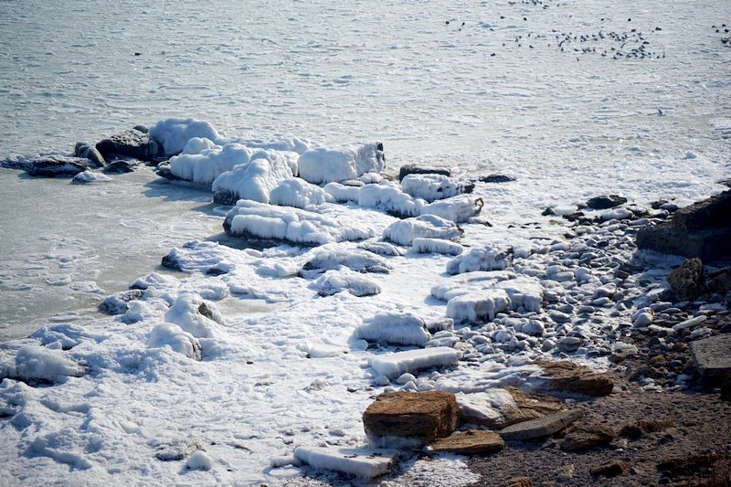 В Одессе вдоль Трассы здоровья растянулись километры льда (ВИДЕО, ФОТО), фото-33