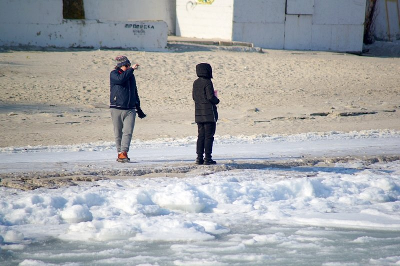 В Одессе вдоль Трассы здоровья растянулись километры льда (ВИДЕО, ФОТО), фото-23