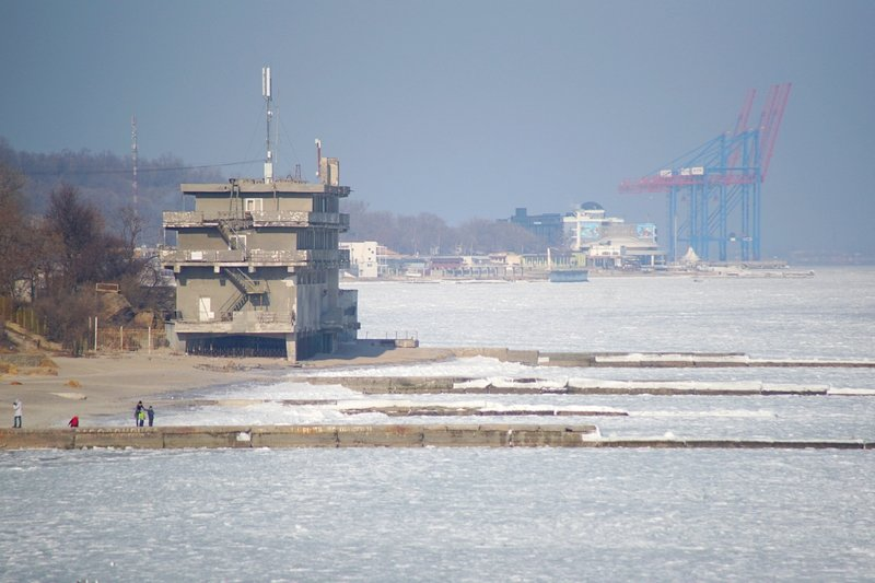 В Одессе вдоль Трассы здоровья растянулись километры льда (ВИДЕО, ФОТО), фото-26