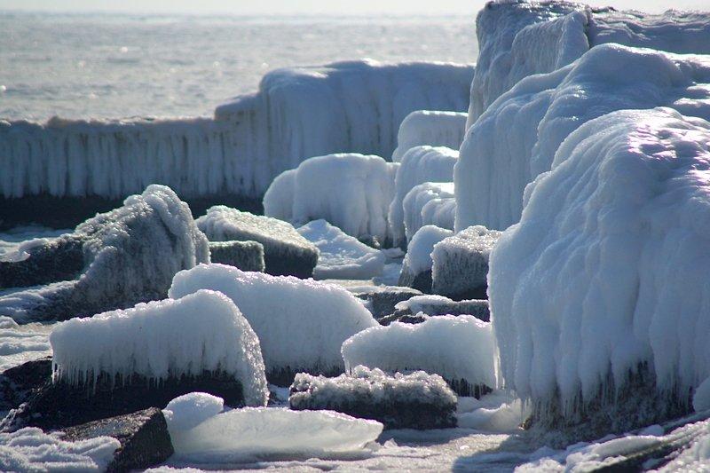 В Одессе вдоль Трассы здоровья растянулись километры льда (ВИДЕО, ФОТО), фото-34