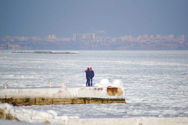 В Одессе вдоль Трассы здоровья растянулись километры льда (ВИДЕО, ФОТО), фото-2