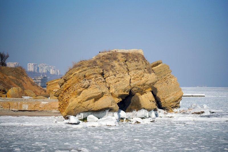 В Одессе вдоль Трассы здоровья растянулись километры льда (ВИДЕО, ФОТО), фото-28
