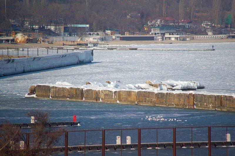 В Одессе вдоль Трассы здоровья растянулись километры льда (ВИДЕО, ФОТО), фото-16