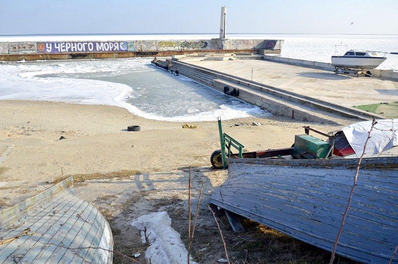 В Одессе вдоль Трассы здоровья растянулись километры льда (ВИДЕО, ФОТО), фото-11