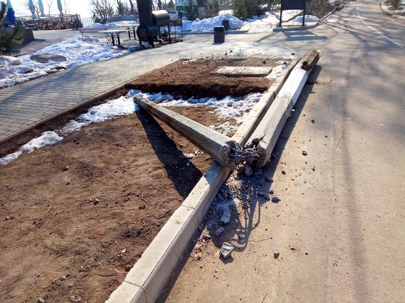 Вдоль одесских пляжей разрушили фонарные столбы (ФОТО), фото-5