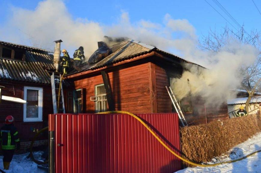 Пожар в частном доме в Чернигове тушили 25 спасателей, фото-1