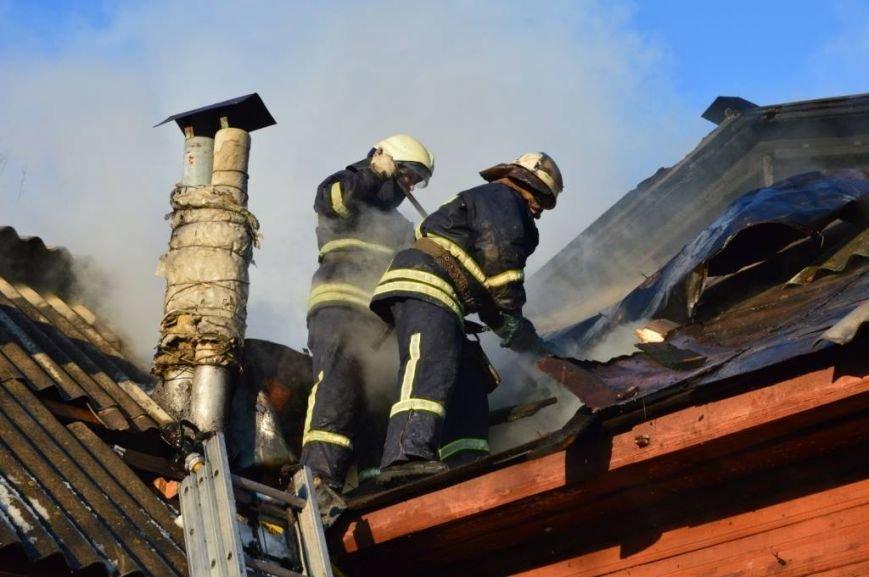 Пожар в частном доме в Чернигове тушили 25 спасателей, фото-6