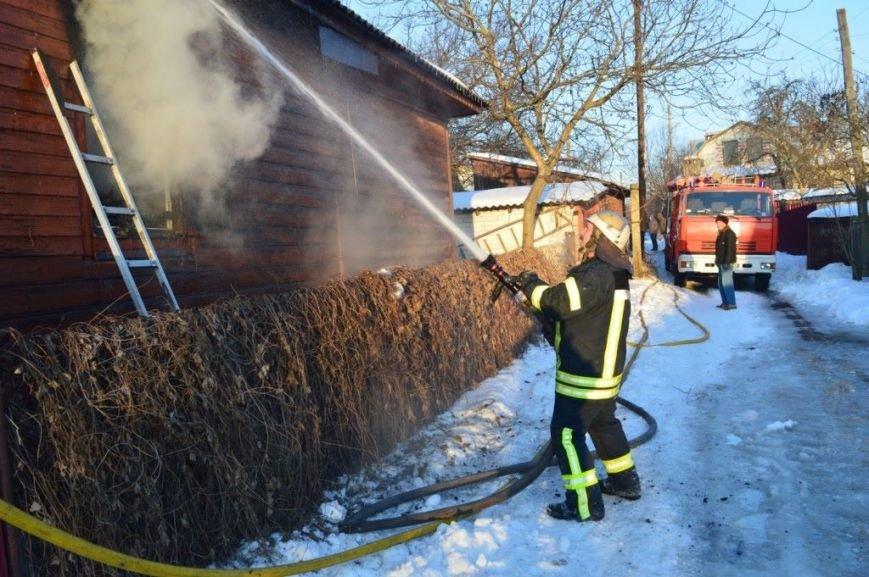 Пожар в частном доме в Чернигове тушили 25 спасателей, фото-5