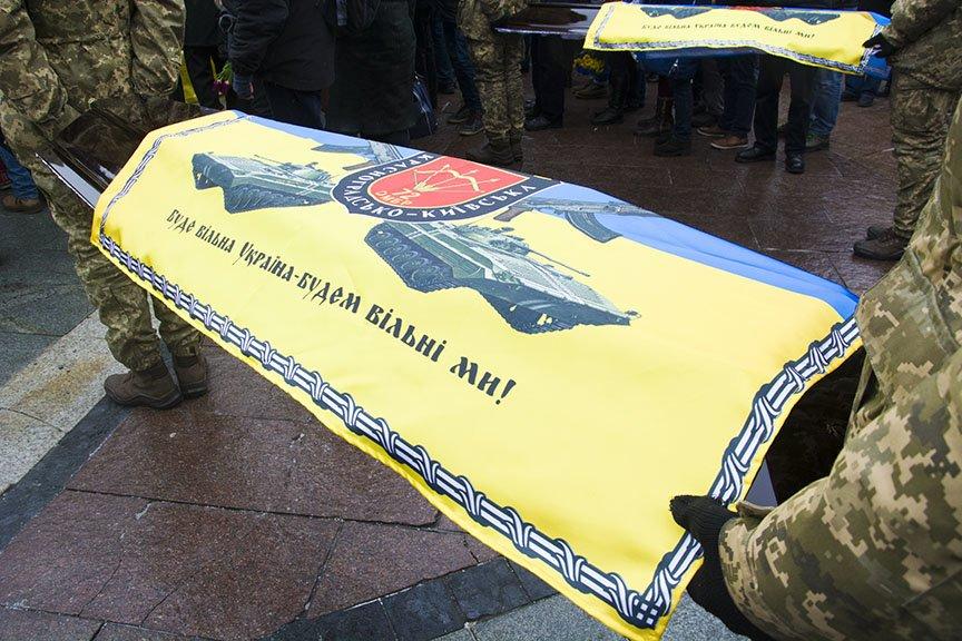 Киев простился с бойцами, погибшими под Авдеевкой (ФОТОРЕПОРТАЖ), фото-14