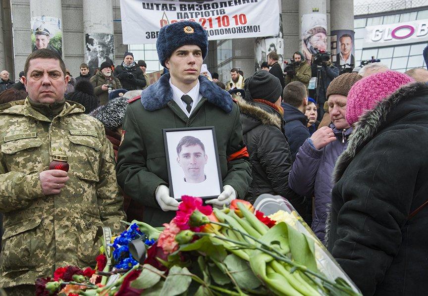 Киев простился с бойцами, погибшими под Авдеевкой (ФОТОРЕПОРТАЖ), фото-26