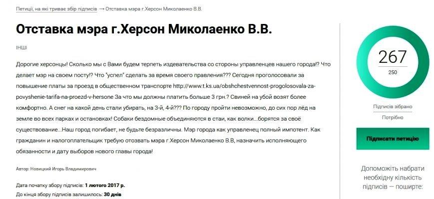 Отставка мэра г.Херсон Миколаенко В.В. - Opera