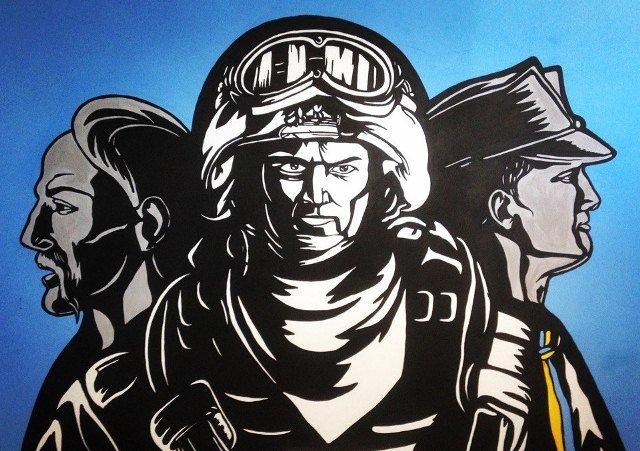 """Криворожская художница расписала стены местной воинской части """"петриковкой"""" и словами Кобзаря (ФОТО), фото-3"""