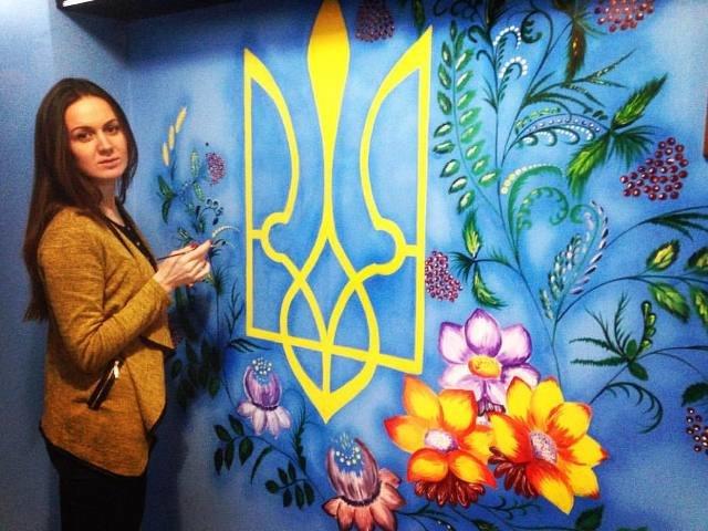 """Криворожская художница расписала стены местной воинской части """"петриковкой"""" и словами Кобзаря (ФОТО), фото-5"""