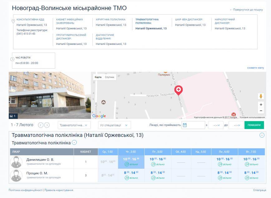 У Новограді-Волинському записатися до лікаря можна через інтернет, фото-1