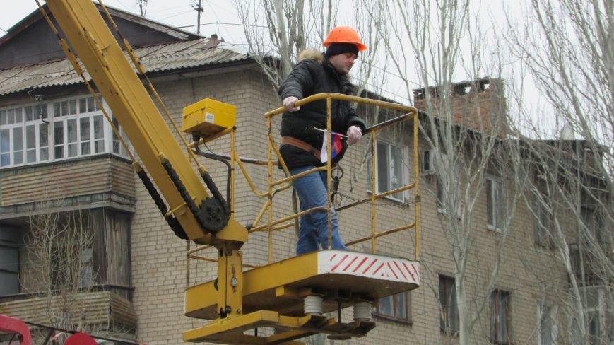 Проделки сепаратистов прибавили работы полиции и коммунальщикам, фото-6