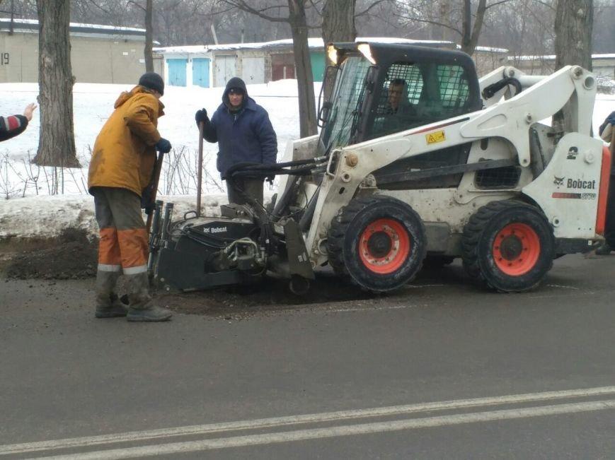 """В Каменском ямы на дорогах латают """"холодным асфальтом"""", фото-3"""