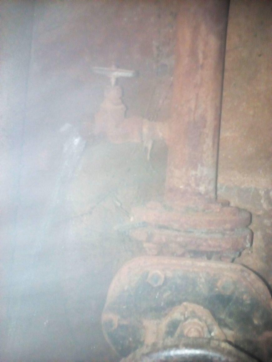 3 Слив отопительной ситемы в подвале дома