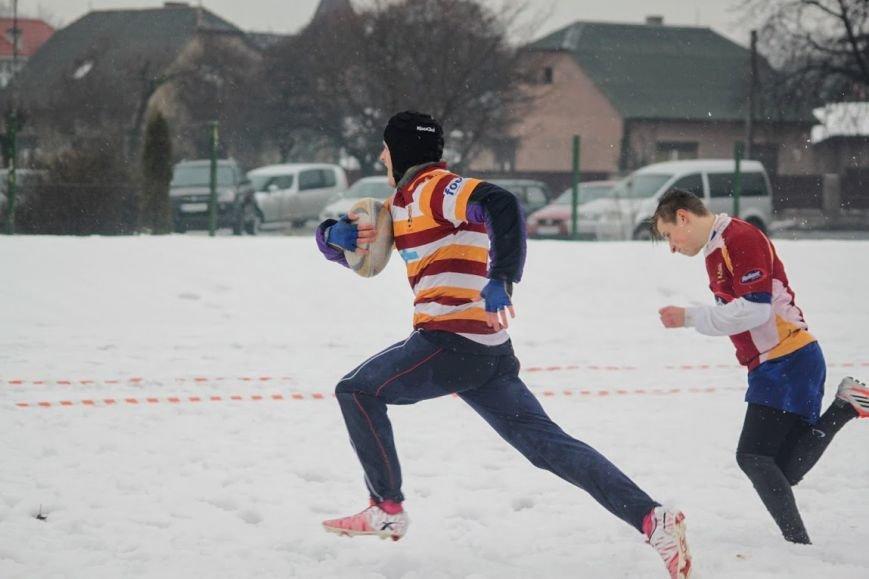 В Ужгороді відбувся перший в Україні турнір із регбі на снігу: фоторепортаж, фото-10