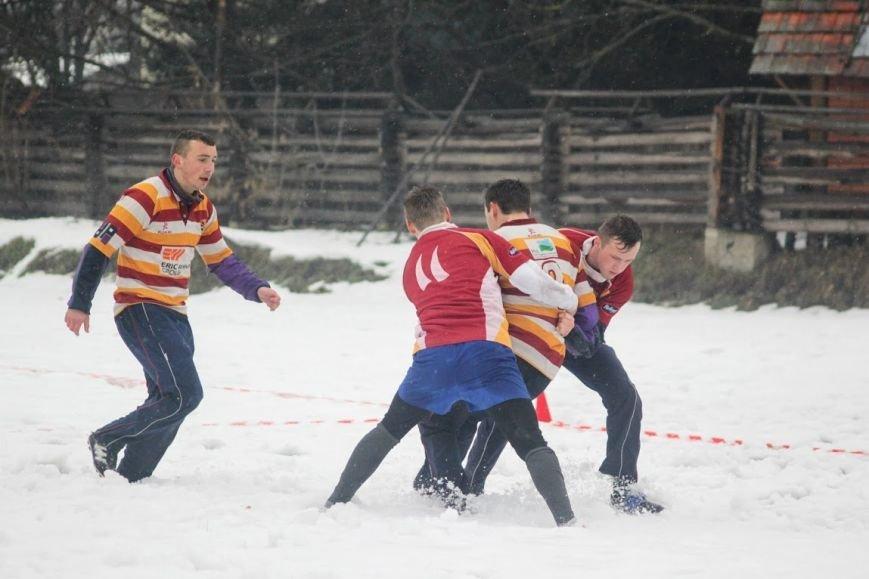 В Ужгороді відбувся перший в Україні турнір із регбі на снігу: фоторепортаж, фото-18