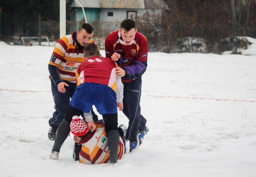 В Ужгороді відбувся перший в Україні турнір із регбі на снігу: фоторепортаж, фото-19