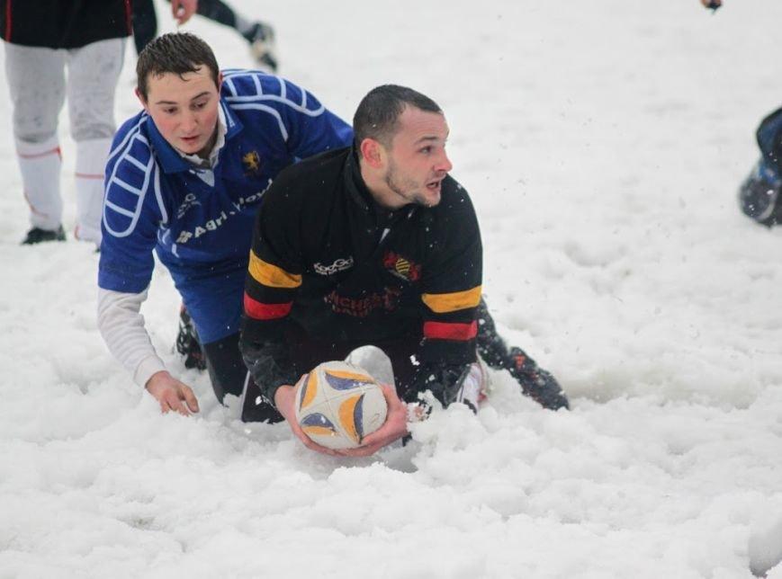 В Ужгороді відбувся перший в Україні турнір із регбі на снігу: фоторепортаж, фото-6