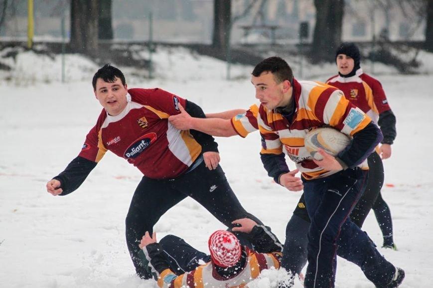 В Ужгороді відбувся перший в Україні турнір із регбі на снігу: фоторепортаж, фото-17