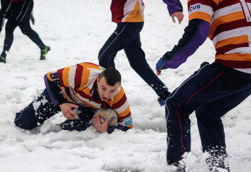 В Ужгороді відбувся перший в Україні турнір із регбі на снігу: фоторепортаж, фото-4