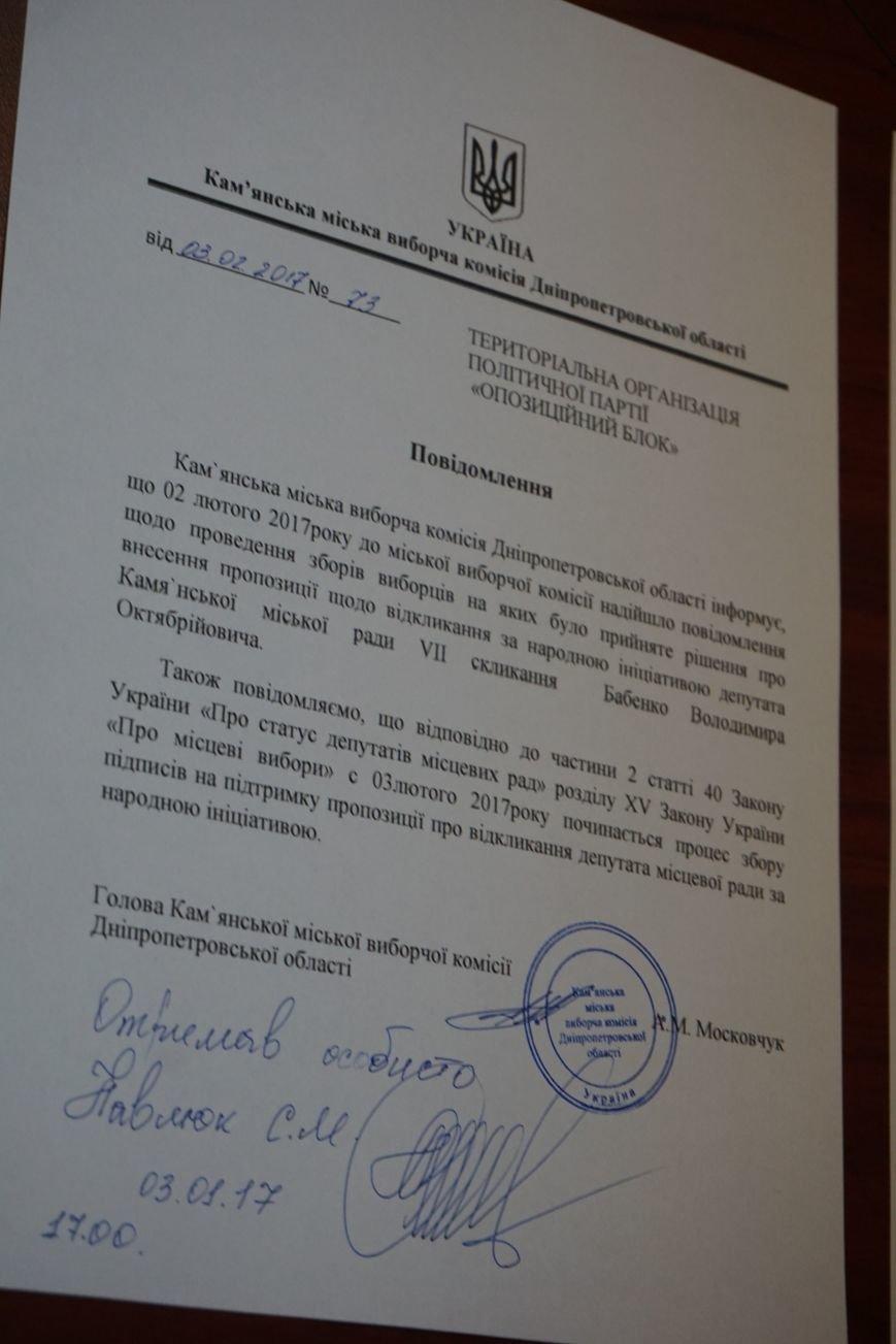В Каменском стартовал процесс отзыва депутатов горсовета Владимира Бабенко и Олега Нагорного, фото-7