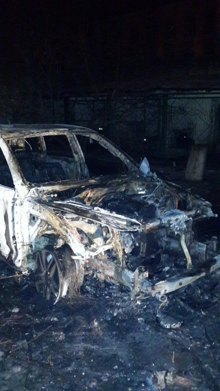 На охраняемой территории райотдела полиции Кривого Рога сожгли вещдок - внедорожник судьи (ФОТО), фото-1