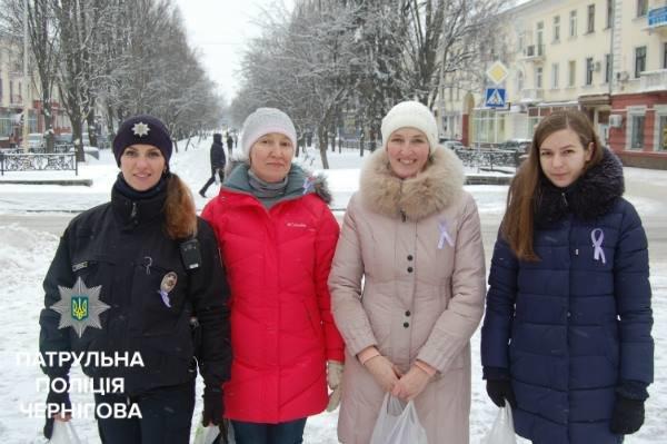 """Черниговские онкологи и патрульные приняли участие в """"Движении против рака"""", фото-5"""
