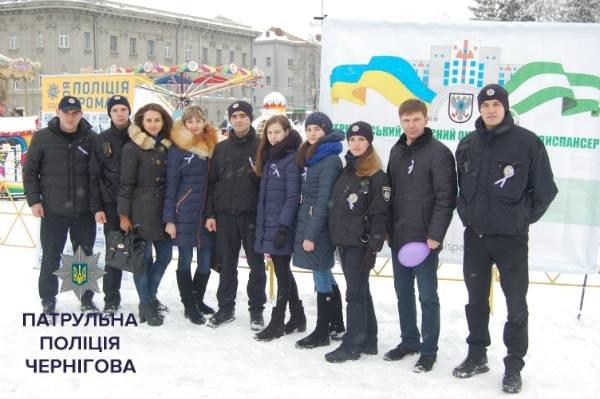 """Черниговские онкологи и патрульные приняли участие в """"Движении против рака"""", фото-8"""