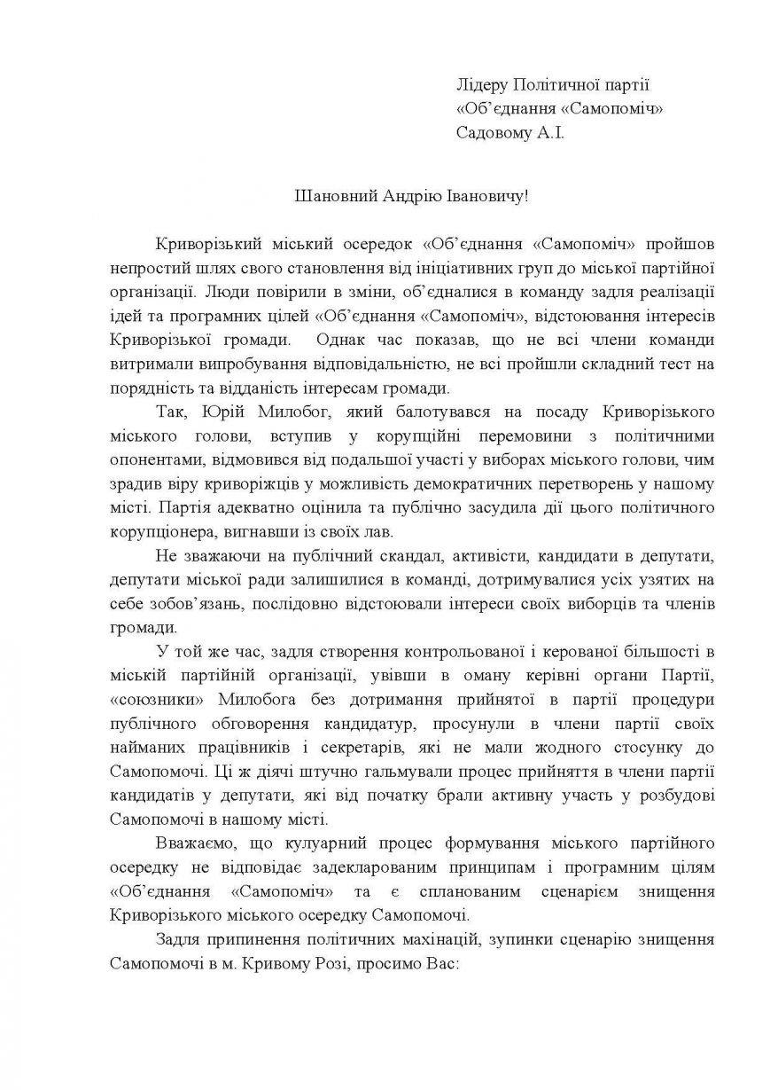 """Руководитель фракции """"Самопомощи"""" в Криворожском горсовете заявила о """"гибридной войне"""" против городской организации партии, фото-1"""