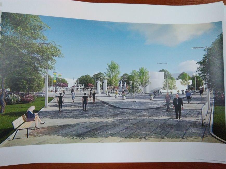 Как будет выглядеть площадь в Краматорске: сухие фонтаны, оригинальные скульптуры и большой экран, фото-6