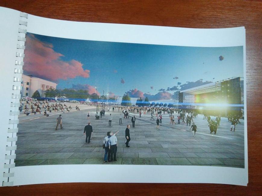 Как будет выглядеть площадь в Краматорске: сухие фонтаны, оригинальные скульптуры и большой экран, фото-9
