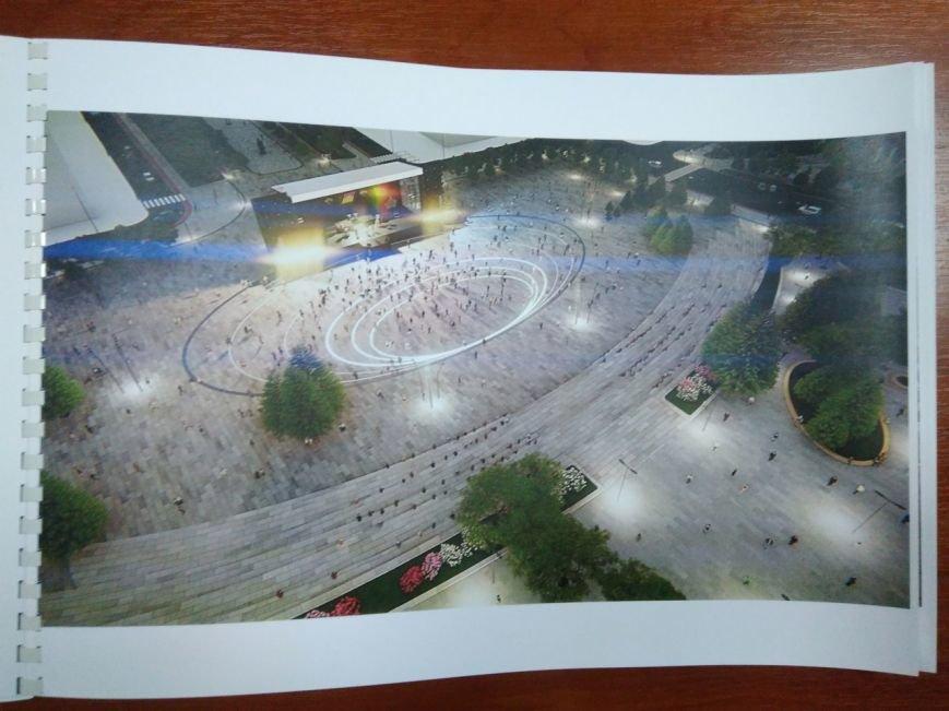Как будет выглядеть площадь в Краматорске: сухие фонтаны, оригинальные скульптуры и большой экран, фото-8