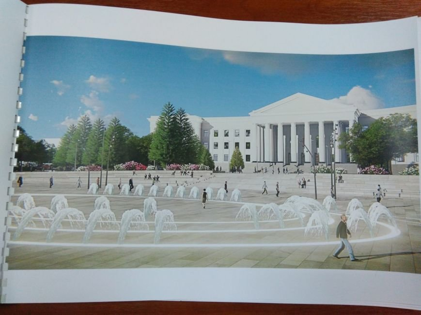 Как будет выглядеть площадь в Краматорске: сухие фонтаны, оригинальные скульптуры и большой экран, фото-10