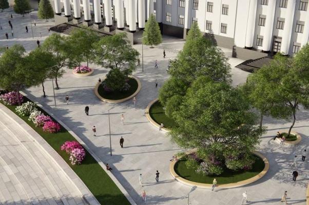 Как будет выглядеть площадь в Краматорске: сухие фонтаны, оригинальные скульптуры и большой экран, фото-3