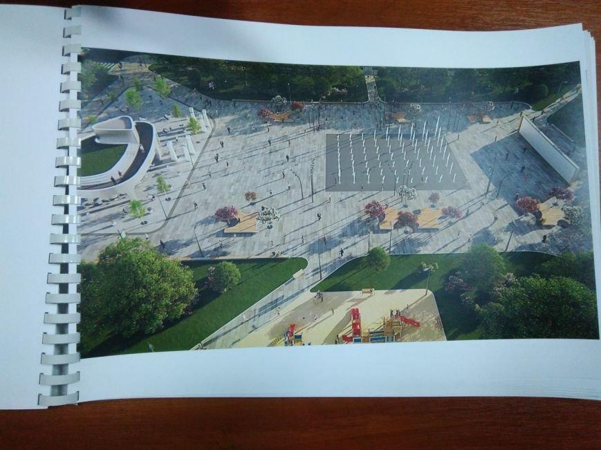 Как будет выглядеть площадь в Краматорске: сухие фонтаны, оригинальные скульптуры и большой экран, фото-5