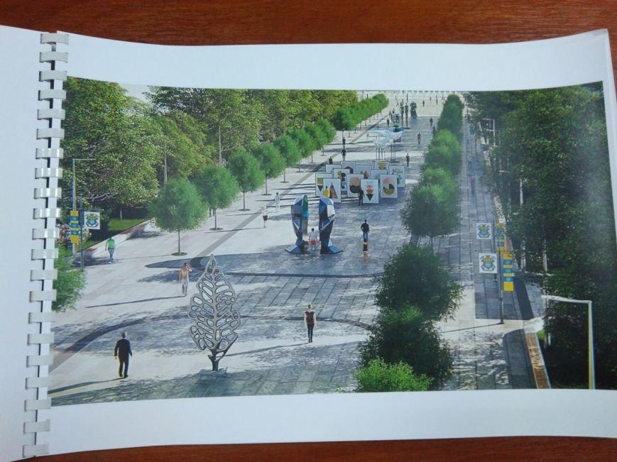 Как будет выглядеть площадь в Краматорске: сухие фонтаны, оригинальные скульптуры и большой экран, фото-4