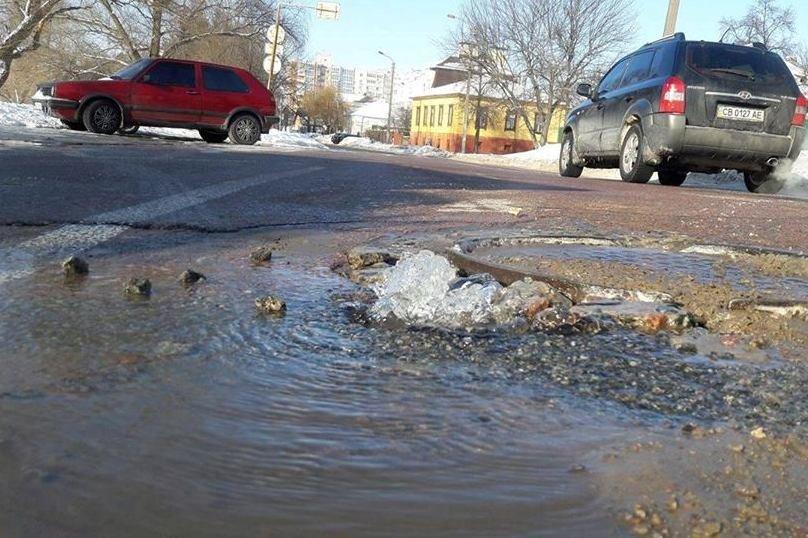 Новая авария на водопроводе в Чернигове. Без воды остался еще один дом, фото-1