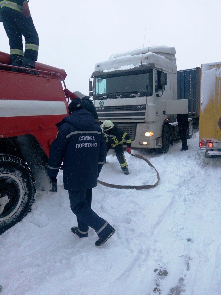 Упродовж доби рятувальники 17 разів виїжджали для надання допомоги водіям, які потрапили у снігові замети, фото-4