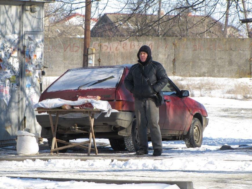 В Мелитополе торгуют мясом на улице, фото-2