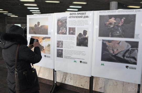 В Киеве открылась фотовыставка брошенных на Донбассе домашних животных, фото-2
