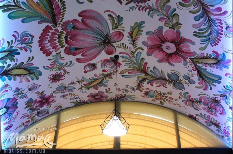 Роспись потолка – стильная тенденция в декорировании помещений, фото-1
