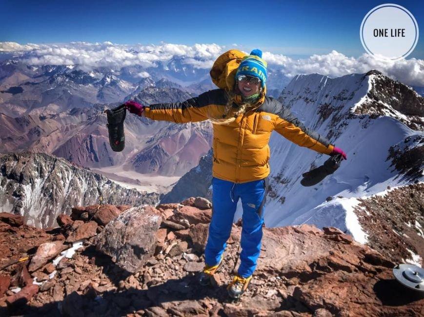 Альпіністка з Мукачева Ірина Галай підкорила найвищу гору південної півкулі Аконгауа: фото, фото-3